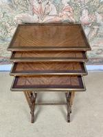 Late 19thC Nest Of Four Tables with Brass Banding (2 of 7)
