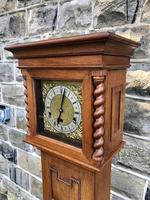 Antique Light Oak Grandmother Clock (9 of 12)