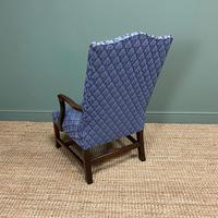 19th Century Antique Upholstered Armchair (2 of 5)