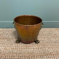 Spectacular 19th Century Victorian Arts & Crafts Antique Copper Log Bucket (6 of 7)