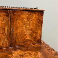 Spectacular Quality Victorian Figured Walnut Antique Davenport (5 of 9)