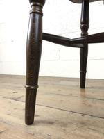 Set of Six 20th Century Wheelback Chairs including Two Carvers (13 of 20)