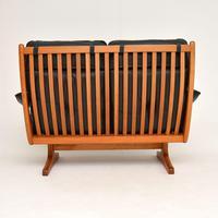 1970's Vintage Teak & Leather Sofa by Soda Galvano (5 of 10)