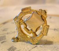 Vintage Pocket Watch Chain Fob 1950s Victorian Revival 12ct Gold Plated Shield Fob (2 of 5)