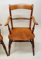 Pair of Victorian Rope Back Oxford Chairs in Elm & Beech (3 of 15)