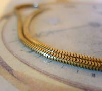 Vintage Pocket Watch 1940s Long 12ct Rolled Gold Snake Link Albert With Button Clip (6 of 12)