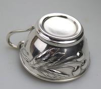 Eduard Friedman - Extremely Rare 800 Solid Silver Vienna Cup & Saucer 1900 (13 of 15)