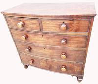 Lovely Quality George III Mahogany Bow Front Chest of Drawers (2 of 6)