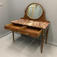 Large French Marble Top Dressing Table (4 of 9)