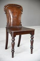 Antique Mahogany Hall Chair (8 of 11)