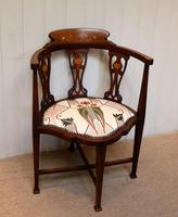 Mahogany Art Nouveau Corner Chair (6 of 10)