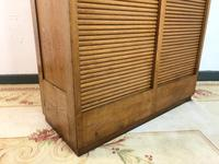Vintage French Mid Century Double Filing Cabinet Tambour Roller Shutter by G Moreux (9 of 13)