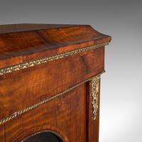 Antique Display Bookcase, English, Walnut, Boxwood, Empire, Cabinet, Regency (9 of 12)