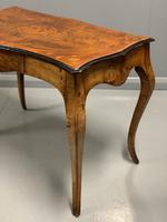 French Figured Walnut Bureau Plat Centre Table (2 of 7)