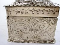 Decorative Rectangular William Comyns Victorian Silver Box (6 of 8)
