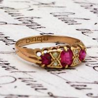 The Antique 1917 Ruby & Diamond Gold Ring (3 of 3)