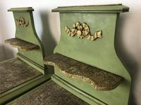 Antique French Painted Bedside Tables Pot Cupboards Original Paint (11 of 13)