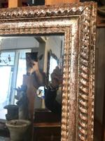 19th Century French Restauration Period Silver Ripple Edge Mirror (4 of 4)