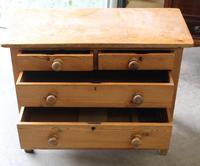 1900's Neat Small Rustic Pine Chest Drawers 2 over 2. (4 of 4)