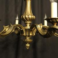 French Bronze 6 Light Antique Chandelier (3 of 10)