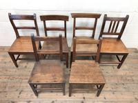 Selection of Six 19th Century Welsh Oak Farmhouse Kitchen Chairs (2 of 10)