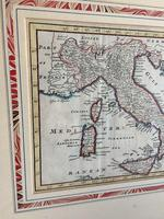 Original Map of Italy by Herman Moll Circa 1720, later framed (3 of 6)