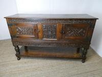 19th Century Carved Oak Cupboard / Dresser (16 of 16)