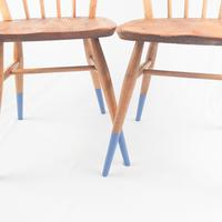 Pair of Ercol Windsor Chairs with Blue Legs (3 of 7)