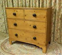 Regency Stripped Pine Chest of Drawers with Original Knobs (8 of 8)