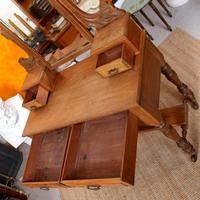 Dressing Table Burr Walnut Mirrored 19th Century (5 of 9)