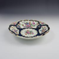 First Period Worcester Porcelain Blue Scale Junket Dish c.1770 (5 of 8)
