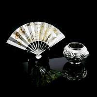 Vintage Japanese Solid Silver Fan Sensu/o-gi c.1960 (14 of 14)