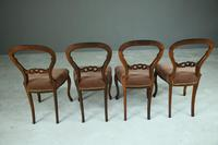 Set of 4 Rosewood Balloon Back Dining Chairs (10 of 12)