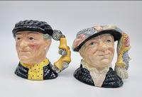 Pearly King and Queen Small Royal Doulton Toby Jugs
