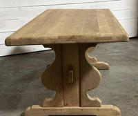 French Oak Trestle Farmhouse Dining Table (2 of 14)