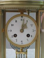 French Belle Époque Brass Four Glass Mantel Clock by Japy Freres (3 of 7)