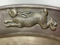 Large Danish Sporting Victorian 19th Century Danish Silver Plate Salver (13 of 31)