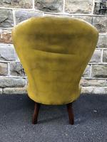 Antique Leather & Mahogany Nursing Chair (7 of 7)