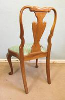 Set of Eight Queen Anne Style Walnut Dining Chairs (8 of 15)