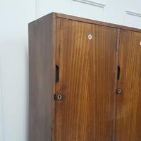 Vintage Wooden School Gym Lockers c.1950 (2 of 7)