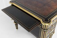 19th Century Ebonised and Brass Inlaid Desk (7 of 11)