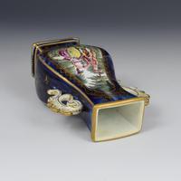 Chelsea Porcelain Gold Anchor Period Blue Ground Vase c.1765 (9 of 14)