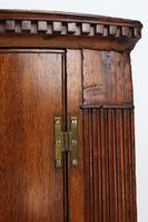 Georgian Oak Bow Front Corner Cupboard (8 of 13)