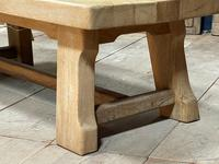 French or Scandinavian Bleached Oak Coffee Table (7 of 15)