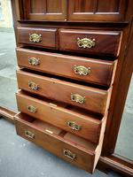 Large Edwardian Walnut Princess Wardrobe (9 of 10)