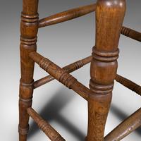 Antique Artist's Stool, English, Beech, Ash, Saddle Seat, Victorian c.1900 (11 of 12)