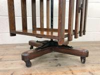 Early 20th Century Oak Revolving Bookcase (8 of 8)