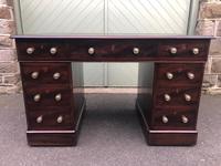 Antique Mahogany Pedestal Writing Desk (5 of 11)