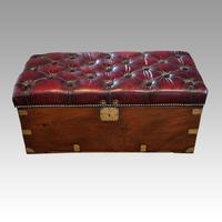 Victorian Leather Camphor Wood Ottoman (10 of 10)