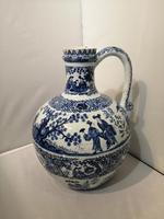 19th Century Blue & White Dutch Delft Flagon / Ewer (3 of 14)